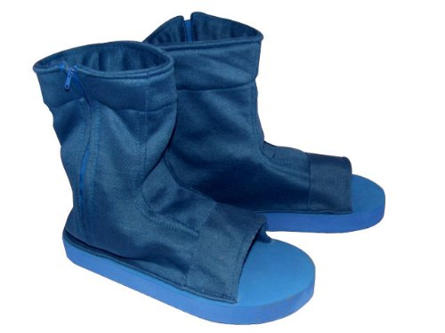 CTMWEB Naruto Cosplay Costume Accessories - Blue Ninja Shoes / Sandals Medium