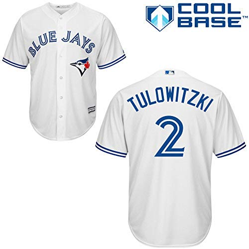 Outerstuff Troy Tulowitzki Toronto Blue Jays MLB Majestic Youth 8-20 White Home Cool Base Replica Jersey (Youth Small 8)