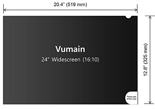 (3in1 pack) 24''W Privacy screen protection filter for LCD monitor 24 inch widescreen 16:10 Ratio (V240161003) by VUMAIN (Image #2)