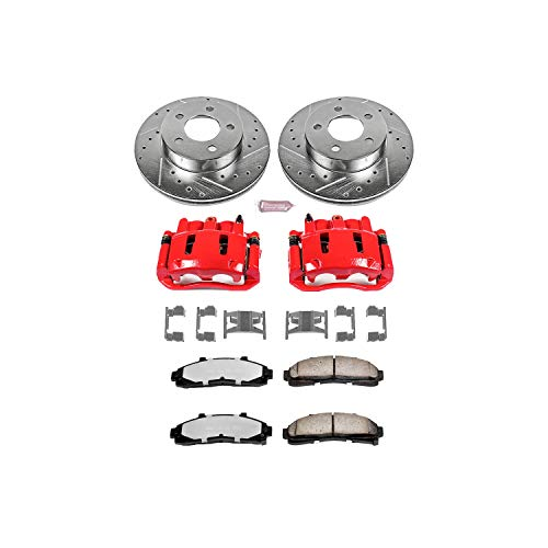 Power Stop KC1860-36 Front Z36 Truck and Tow Brake Kit with Calipers