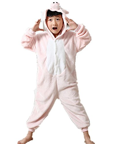 Unisexe Slipper Rose Cosplay Combinaison Animaux Costume En Enfant Padgene Flanelle Deguisement Pantoufle Pyjama Halloween qFpw4HB