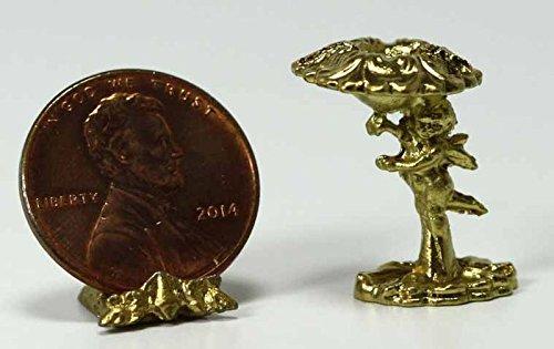 Miniature 1:12 Scale Gold Cherub Candlestick -