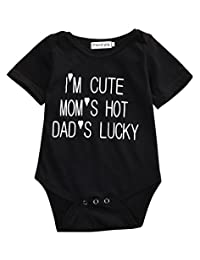 Newborn Infant Baby Boy Girls Bodysuit Romper Coming Home Clothes Outfits
