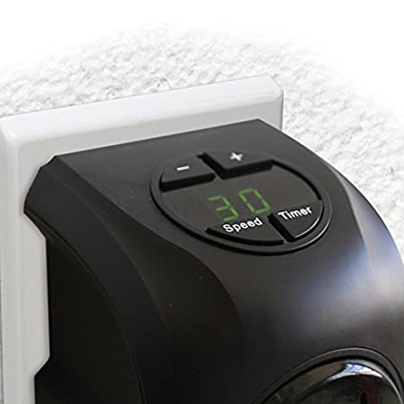 Handy Heater Estufa Eléctrica Portátil 400 W enchufe eléctrica ajustable de 15 a 32 ° bajo consumo baño casa oficina. Visto de TV-: Amazon.es: Hogar