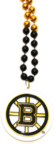 NHL Boston Bruins Team Logo Mardi Gras Style Beads