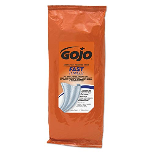 (GOJO Fast Wipes Hand Cleaning Towels, Pack of 60)