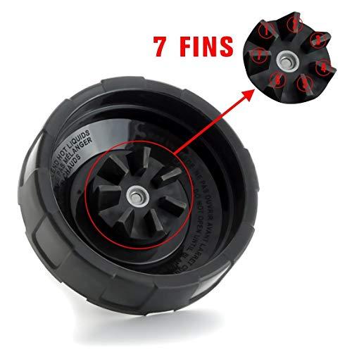 Cozyla B07BNP7TTY 661757796693 Replacement Bottom 1 Gasket Rubber BL482 BL642 NN102 BL682 BL2013 Nutri Ninja Blender Auto iQ 7 Fins Blade As, 4.4 x 4.4 x 3.8 inches by Cozyla