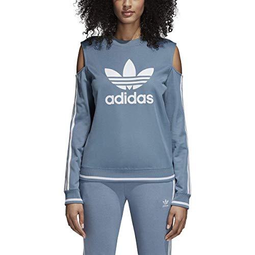 Adidas Women Originals Cutout Sweater (XS, Raw Grey) ()