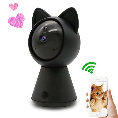 WiFi IP Camera Wireless Cute cat Cam HD 1080P Home Security Surveillance System Indoor Dome Camera Nanny Baby Camera Pet Monitor Pan/Tilt with Motion Detection Alarm Two-Way Audio Night Vision