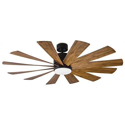 Modern Forms FR-W1815-60L-MB/DK Windflower 60Inch Smart Fan