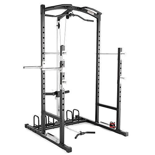 Marcy Home Gym Cage System Workout Station for Weightlifting, Bodybuilding and Strength Training MWM-7041 (Marcy Weight Bench Set)