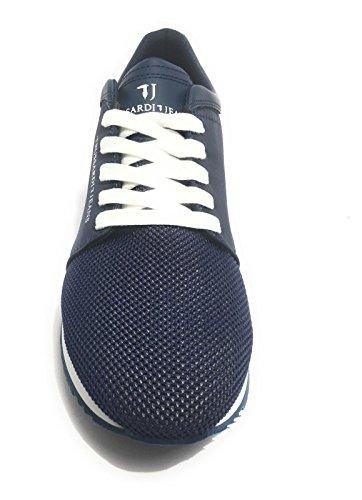 Blu 77s508 Sportiva Casual Sneakers Scarpa Jeans E Rosso Grigio Trussardi Uomo HptqTw