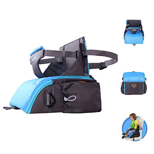 Portable Travel Booster Seat, 2 in 1 Travel Diaper Bag, On-T