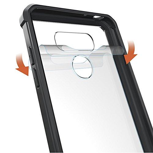 Funda LG G6/G6 Dual H870DS, Forhouse Suave Transparente TPU Silicona Back[Duro]Acrílico Marco Ligero Híbrido[Armor]Shockproof Bumper Case[Anti-Arañazos]Ultra Delgado Carcasa para LG G6/G6 Dual H870DS  Negro