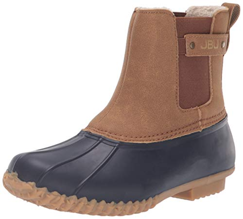 JBU by Jambu Women's Spruce Weather Ready Rain Boot, Navy/tan, 8 Medium US