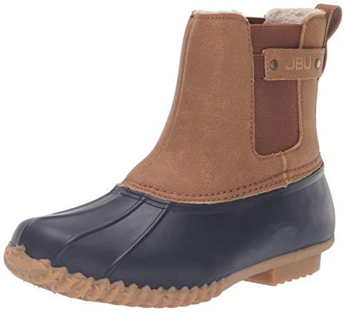 JBU by Jambu Women's Spruce Weather Ready Rain Boot, Navy/tan, 8 Medium US