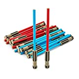 Light Saber Pencil Eraser Party Favors, 24 pack of Blue and Red Pencil with 3D Eraser