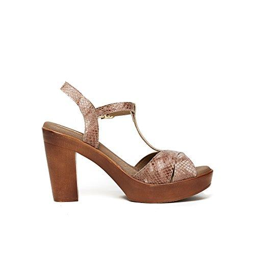 UMA Plateau-Sandalen Aus Echtem Leder für Damen Rosa