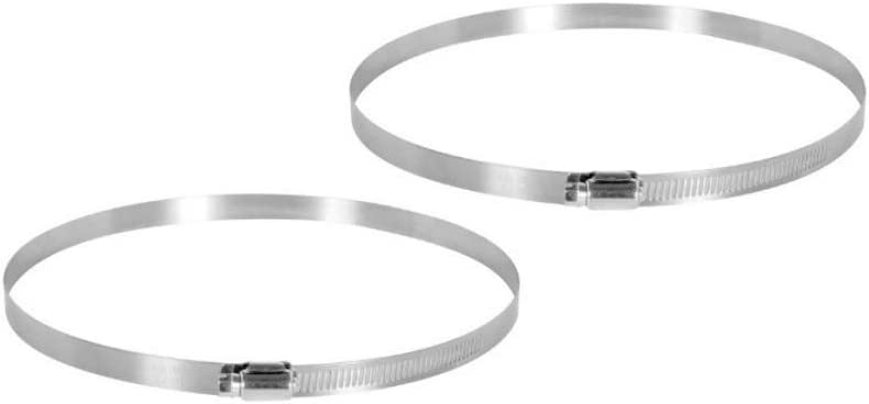 Fits 8 Inch Ducts 8 Stainless Steel Duct Clamps for Ventilation Ducting Air Hoses Inline Fans and Carbon Filters 2 Pieces Per Bag