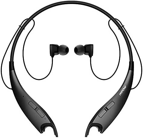 Mpow Jaws V4.1 Bluetooth Headphones Wireless Neckband Headset Stereo Noise Cancelling Earbuds w/ Mic
