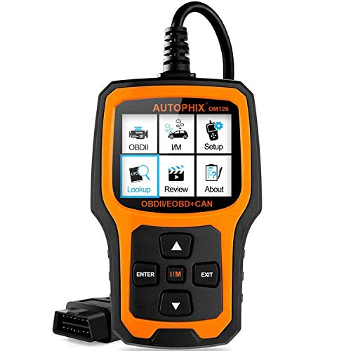 Autophix Code Reader OM126 OBDII OBD2 Scanner Car Engine Fault Code Reader Auto Check Engine Light CAN Automotive Diagnostic Scan Tool (Black/Yellow)