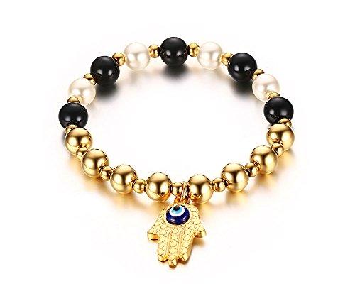 Stainless Steel Fatima Tennis Bracelet
