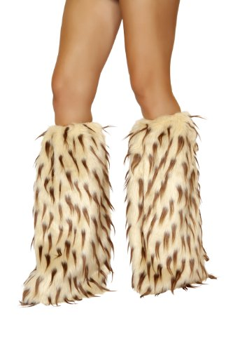 [Roma Costume Women's Faux Fur Leg Warmer - Camel Brown, Camel/Brown, One Size] (Warm Bodies Costume)