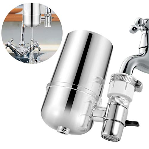 Euone Water Filter for Kitchen Sink Or Bathroom Faucet Mount Filtration Tap Purifier
