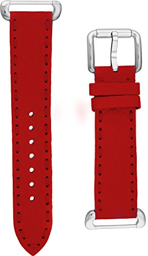 Fendi Selleria Interchangeable Replacement Watch Band - 18mm Red Calfskin Leather Strap with Pin Buckle SSN18RB7S by Fendi
