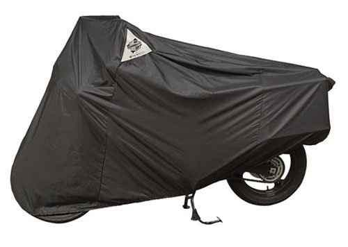 Guardian By Dowco - WeatherAll Plus Indoor/Outdoor Motorcycle Cover - Lifetime Limited Warranty - Reflective - Waterproof - UV Protection - Heat Safe - Moisture Guard Vent - Black - ()