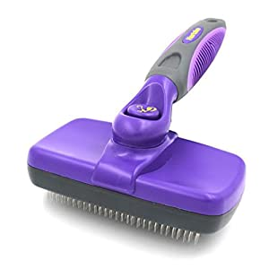 Hertzko Self Cleaning Slicker Brush – Gently Removes Loose Undercoat, Mats and Tangled Hair – Your Dog or Cat Will Love…