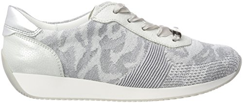 5 39 Bianco Women's UK Silver Trainers 3 LISSABON ara UK Camu Silber Sw4v00q