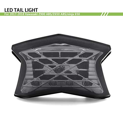 Abs Tail Light - BSK Z Symbol Integrated Led Tail Light +Turn Light For 2017-2018 17 18 Kawasaki Ninja 650 650R Z650 Z900 ABS (Smoke)