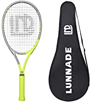 LUNNADE Adult Tennis Rackets 2 Pack, 27 Inch Recreational Tennis Racquet with Cover, Pre-Strung & Regrip,