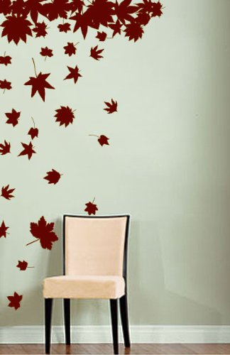 Amazon.com: Stickerbrand Nature Vinyl Wall Art Autumn Tree Leaves ...