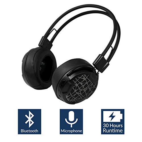 - Arctic P604 Wireless (Black), Dynamic Bluetooth 4.0 Headphones, On-Ear Design Smart Control Integrated Microphone, 30 Hours Battery Life