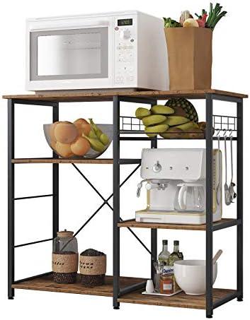 soges 3-Tier Kitchen Baker's Rack Utility Microwave Oven Stand Storage Cart Workstation Shelf