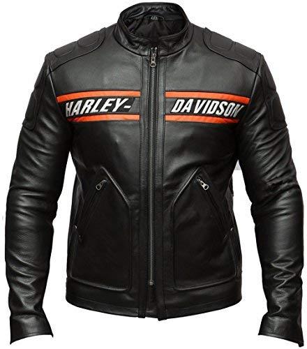 DeColure Heren Goldberg Harley Davidson Motorjas Faux & Echt Lederen Jas