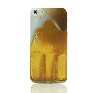 Drink Beer for Sports Lovely Back Cover Case for Iphone 5 5s with Free LCD Film