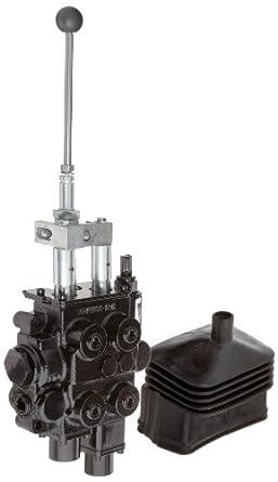 Prince RD522GCGA5A4B6 Directional Control Valve, Monoblock, Cast Iron, 2  Spool, Spool1: 4 Ways, 4 Positions, Spool 2: 4 Ways, 3 Positions, Spool 1: