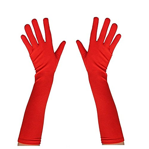 Guante liso 45 cm color rojo My Other Me Me Viving Costumes MOM01415