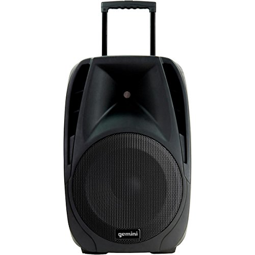 Gemini ES-15TOGO 15-inch Active Battery Powered Loudspeaker with Wireless Microphones