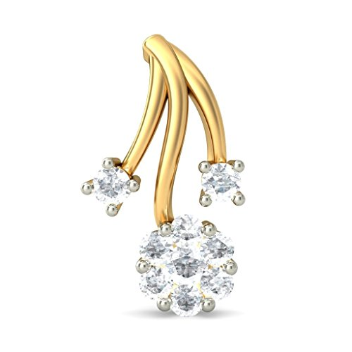 Or jaune 18 K 0,44 CT TW White-diamond (IJ | SI) Boucles d'oreille à tige
