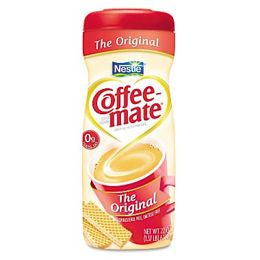 Coffee-mate ORIGINAL POWDERED CREAMER, 22OZ CANISTER, Case of 6