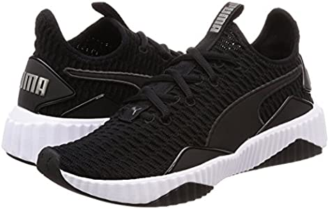 PUMA Women's Defy WN's Blk wht Shoes, Black White