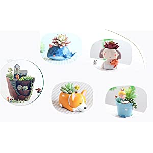 Youfui Cute Dog Flowerpot Animal Resin Succulent Planter Desk Mini Ornament 4