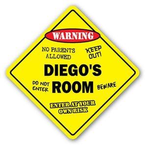 DIEGO'S ROOM Sticker Sign kids bedroom decor door children's name boy girl gift - Sticker Graphic Personalized Custom Sticker Graphic