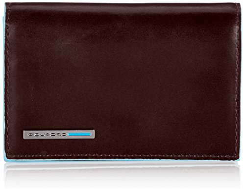 Piquadro Business Card Holder, Mahogany, One Size by Piquadro