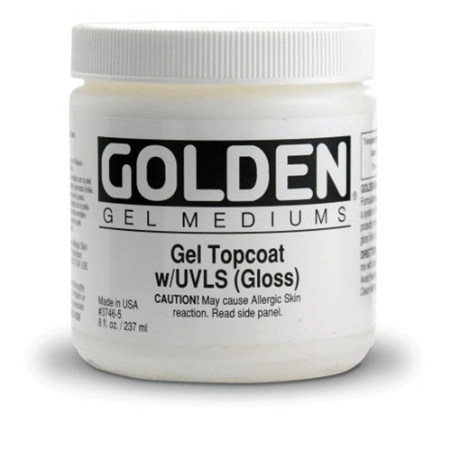 Golden Artist Colors - Gel Topcoat UVLS Gloss - 128 oz Jar