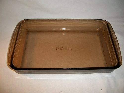 Pyrex #22 Amber Brown Casserole Lasagna Brownie Baking Dish Pan